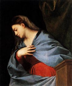Titian (Tiziano Vecellio) ~ Polyptych of the Resurrection: Virgin Annunciate, 1520-22