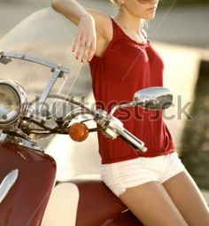 Red vespa girl scooters with photos 88