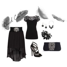 Black Couture, created by beautiana on Polyvore