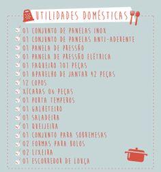 Utilidades Domésticas.  | http://www.ricardoeletro.com.br/ListaCasamento