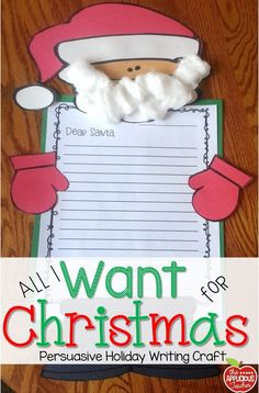 Santas stuck craft and story elements school ideas pinterest santa persuasive letter and craft spiritdancerdesigns