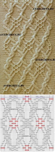 Узор спицами 919 «Коса 48 петель» | каталог вязаных спицами узоров