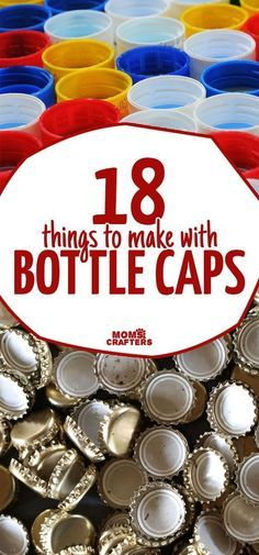 I love these recycled bottle cap crafts and DIY ideas! I love to collect beer bottle caps AND plastic soda bottle caps and then making crafts for kids seasonal crafts art projects diy toys magnets and more with them. Plastic Bottle Caps, Beer Bottle Caps, Bottle Cap Art, Beer Caps, Bottle Cap Magnets, Beer Cap Art, Crafts To Make, Crafts For Kids, Diy Crafts