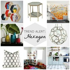 Fun ideas on how to incorporate this trend into your home!  Trend Alert: Hexagon