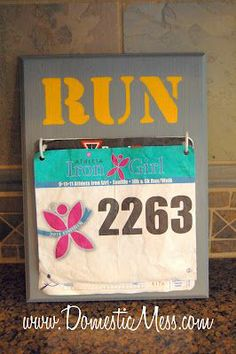 a fun project for those race bibs!