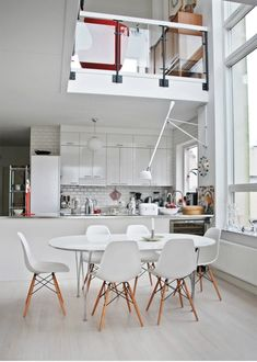 Dining Room/Kitchen - Classical Scandinavian House With A Mid-Century #scandinavian #interior
