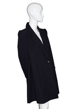 Dressing Vintage - Vintage Valentino Mint condition midnight navy blue swing coat SOLD, $0.00 (http://dressingvintage.com/vintage-valentino-mint-condition-midnight-navy-blue-swing-coat-sold/)