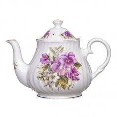 Pansy Fine Bone China - 4 Cup Teapot