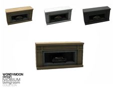 - Niobium Living - Fireplace Found in TSR Category 'Sims 4 Fireplaces'