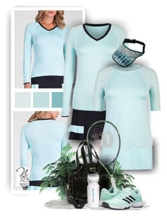 """""""Beautiful new Tennis Styles - Nicole's Tennis Boutique"""" by nicolestennisboutique ❤ liked on Polyvore featuring adidas"""