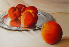 Cinque Pesche - pastel by Colleen Brown. www.colleenbrown.com.  Prints available.
