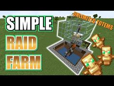 Just a few efficiency updates Simple Easy raid farm to get unlimited totem of undying. Updated, No witch potions, no Vex spawns, just your basic totem farm M. Minecraft Automatic Farm, Minecraft Farm, Easy Minecraft Houses, Minecraft House Tutorials, Minecraft Plans, Minecraft Survival, Minecraft Construction, Amazing Minecraft, Minecraft Tutorial