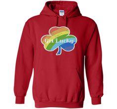 St Patrick's Gay Pride Rainbow Shamrock Tshirt | LGBT