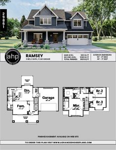 Family House Plans, New House Plans, Dream House Plans, Modern House Plans, Small House Plans, House Floor Plans, House Plans 2 Story, Craftsman Style House Plans, Craftsman Houses