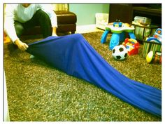 Sensory tunnel- make it yourself.  www.yourkidstable.com