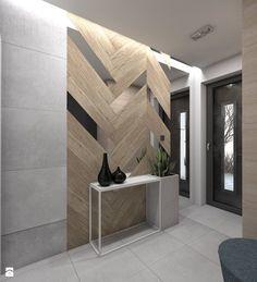 (Tarnowskie Góry) Projekt domu jednorodzinnego 1 - Średni hol / przedpokój, styl nowoczesny - zdjęcie od BAGUA Pracownia Architektury Wnętrz