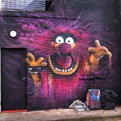 Fun Street Art of Animal by Gnasher - Street I Am | Street Art Planet | Scoop.it
