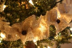 The Barefoot Seamstress: Jingle Bell Burlap Garland {Tutorial}