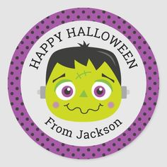 #affiliatelink #promo Personalized Happy Halloween Monster Round Sticker #happy #halloween #monster #frankenstein #cute #halloweenfavors #halloweenparty #halloween #halloweenentertaining #zazzle Happy Halloween, Halloween Party Favors, Halloween Gifts, Holiday Cards, Christmas Cards, Halloween Entertaining, Pin On, Party Guests, Christmas Card Holders