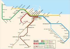 Bari Metro Map • Mapsof.net