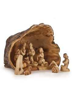 Hand-carved by artisans in Bethlehem, Balsam Hill's Olive Wood Nativity Set beautifully depicts the first Christmas.