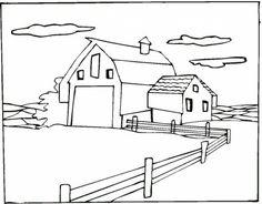 Blank farmyard scene (free printable) | Printables ...