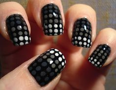 Black with grey and white spots
