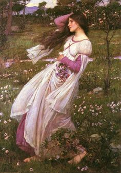 Jonathan William Waterhouse Windflowers  1902 Pre-Raphaelite