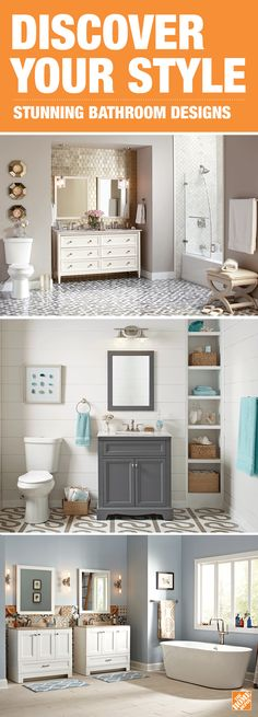 To create the bathroom of your dreams, begin by choosing a stunning vanity. Whether your style is rustic or modern, the vanity sets the tone and lighting and fixtures elevate the design. No matter if you're choosing a single or double sink, you'll find options with plenty of storage at The Home Depot. Click to explore our vanities and begin your remodel.