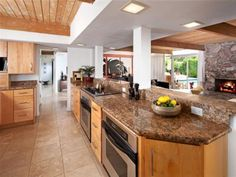 roomy kitchen and TWO ovens!