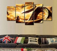 If you love fantasy wall art then you will absolutely love dragon home decor and more specifically dragon wall art Additionally you can find all types of dragon wall art from Chinese dragon wall art, dragon ball wall art, Celtic dragon wall art and so much more. 5 Pcs Dragon Ball Abstract Canvas - 5 piece Abstract Dragon Ball Fantasy Canvas For Your Home/Office Room (20x35cmx2,20x45cmx2,20x55cmx1)