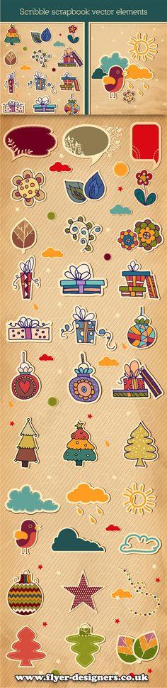 scrapbook vector graphics suitable for craft flyer www.flyerdesigners.co.uk #scrapbook #craftflyer #flyerdesign