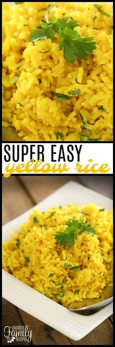 This Easy Yellow Rice side dish complements just about any meal! You can make this on the stove-top or in the rice cooker. So tasty!
