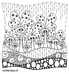 sweet rain to go with Home #zentangle #zentangles