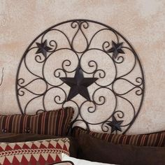 Round Metal Star Wall Decor