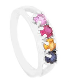 Sterling Silver Custom Made to Go Mothers Family Birthstone Ring. $99.95, via Etsy.