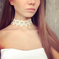 Newest fashion jewelry accessories white &black Lace Tattoo choker necklace for couple lovers' - FASHION BookFace - Leading Global Online Shopping Site