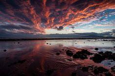 Powfoot beach in Scotland