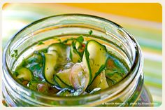 Spicy-Sweet Pickled Cucumbers