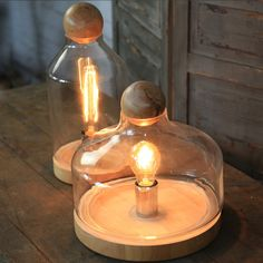 89.00$  Watch here - http://aliw3i.worldwells.pw/go.php?t=32658297828 - Wood Glass Tank Table Vase Light Bedroom Lamp For Cafe Hotel Decorate 89.00$
