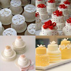 Realizando um Sonho | Blog de casamento e vida a dois: Mini bolos como lembrança ou torre de bolos