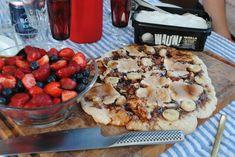 Nutella pizza med banan og skumfiduser.