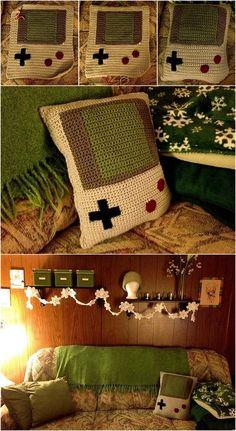 Game boy pillow crochet