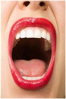 Lips wide open