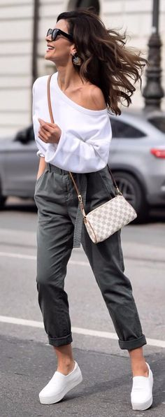 street chic style comfy outfit