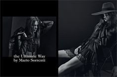 March 2013, The Ultimate Way. Photos by Mario Sorrenti - click on the photo to see the complete story and backstage video