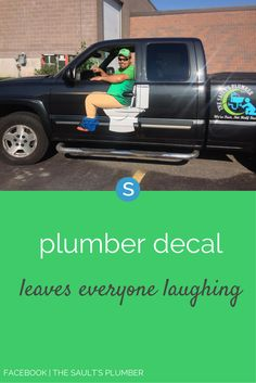 If this plumber's marketing skills are any indication of the quality of his plumbing repair, we'd say his business has a bright future ahead.