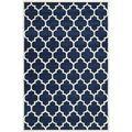 Geometric Handmade Moroccan Dark Blue Wool Rug (5' x 8')   Overstock.com Shopping - The Best Deals on 5x8 - 6x9 Rugs