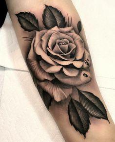 Realistic Rose Tattoos for Everyone – Tattoo Icon Rose Tattoos For Women, Black Rose Tattoos, Tattoos For Women Small, Small Tattoos, Tattoos For Guys, Tattooed Guys, Mens Rose Tattoos, Tattoos Of Roses, Black Rose Tattoo For Men