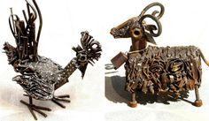 Esculturas e pinturas do artista iraniano Shamsedin Ghazi